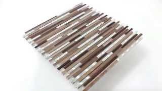 Wanddekor Aluminium Alu Metall Mosaik Braun Kupfer Silber