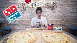 Domino's Pizza Mukbang! New Improved Mozzarella Cheese! | EATING SHOW