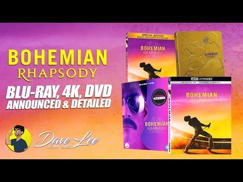 BOHEMIAN RHAPSODY - Blu-ray, 4K, DVD Announced & Detailed