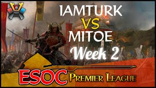 [AoE3] (NN) iamturk vs (MDS) Mitoe − Week 2 − The ESOC Premier League