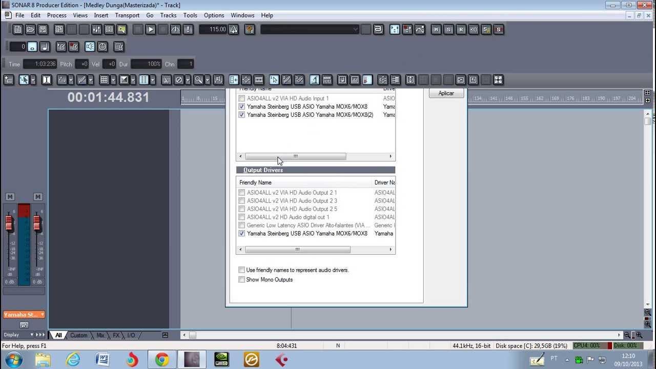 Download configurando sonar pra gravar audio com o teclado Mox6