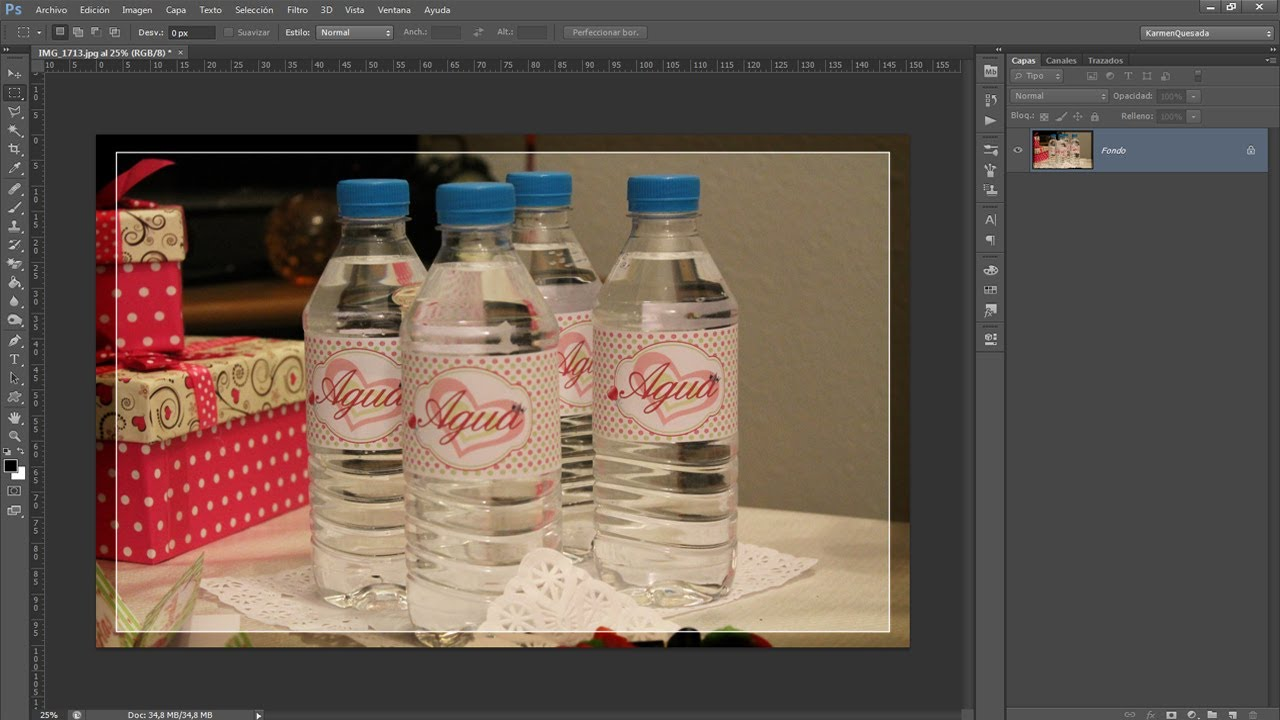 Tutorial Photoshop: Diseñando Etiquetas para botellas. - YouTube