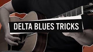 Delta Blues Guitar Lesson (How to Add Simple Tricks to Make the Guitar Speak)