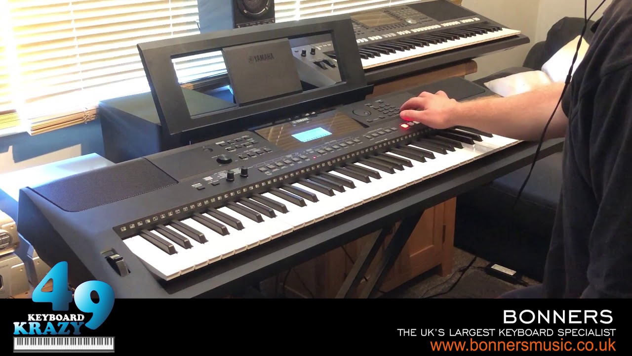 the new yamaha psr ew410 keyboard 758 sounds part 1 3. Black Bedroom Furniture Sets. Home Design Ideas