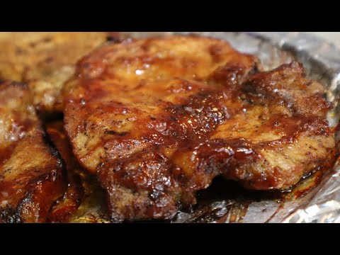 Easy JUICY Baked Pork Chops| BBQ Pork Chops Recipe| Quarantine Recipe