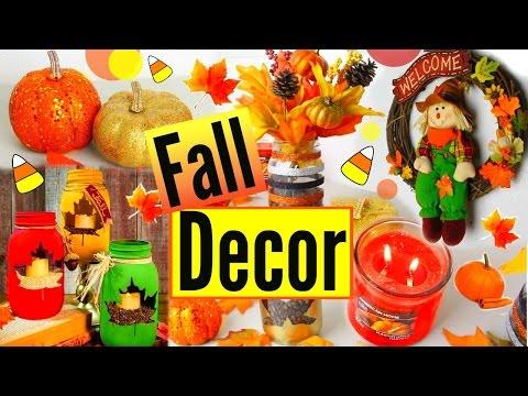 DIY Fall Room Decor 2015! Fall Inspiration   Easy & Cheap Room Decor!