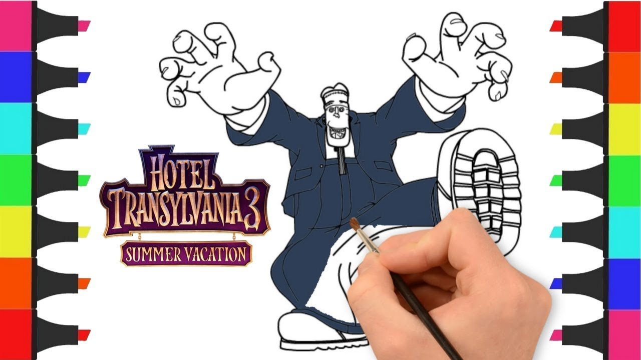Hotel Transylvania 3 Coloring Pages for Kids, Mavis and Dracula Go ... | 720x1280