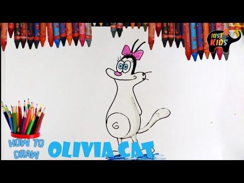 Cách vẽ mèo OLIVIA Trong phim oggy và những chú gián HOW TO DRAW OLIVIA CAT