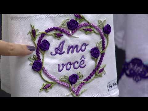 Pontos Bordados Linhas e Fitas por Valéria Soares - 13/03/2015 - Mulher.com - P1/2