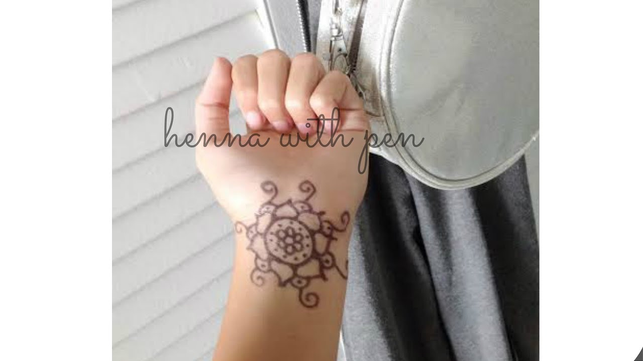 How to make a fake henna tattoo with pen youtube for How to make a tattoo painless