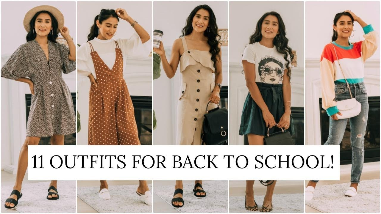 [VIDEO] - 11 OUTFITS PARA EL REGRESO A CLASES | BACK TO SCHOOL OUTFIT IDEAS WITH SHEIN | Almalatina29 9