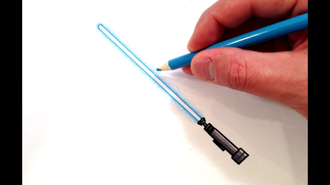 How to Draw a Lightsaber - YouTube for How To Make A Lightsaber For Kids  111bof