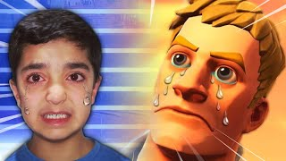 I Mocked My Little Brother During An Entire FORTNITE Game! (LITTLE KID RAGES!)