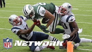 The aftermath crew breaks down controversial austin seferian-jenkins touchdown reversal during week 6 new england patriots vs. york jets game.subscri...