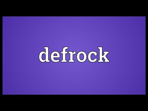 Header of defrock