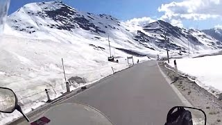 Alps - Stelvio, Umbrail, Fuorn, Fluela Passes / Europe motorcycle trip part 12