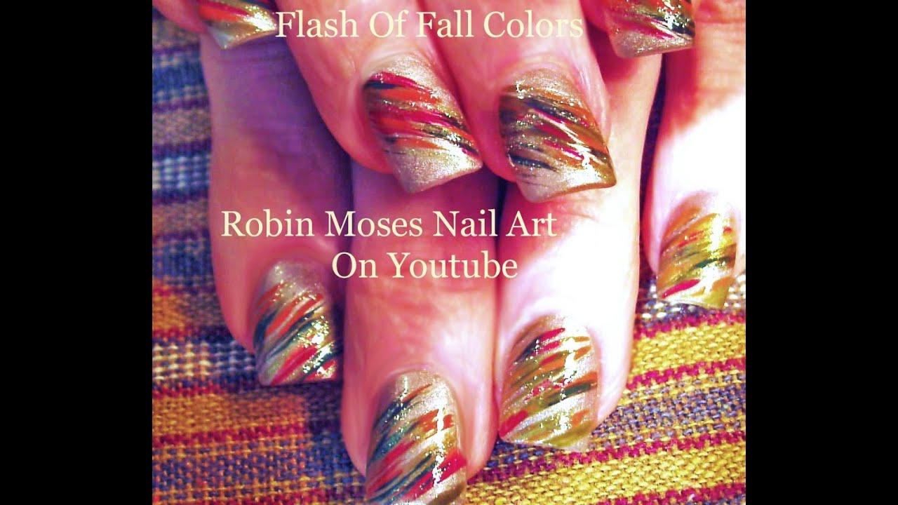 Easy Thanksgiving Nail Art Tutorial | Fun Fall Nail Art Design For ...