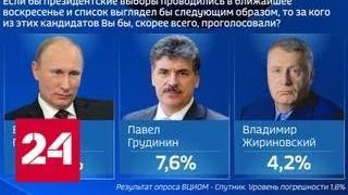 """ВЦИОМ: у российских избирателей нет """"кровожадных запросов"""" - Россия 24"""
