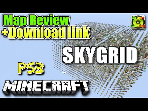 MINECRAFT - PS3 - SKYGRID - MAP REVIEW + DOWNLOAD LINK ( PS4 )