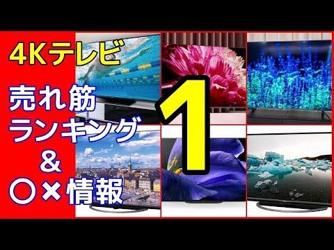 4Kテレビ 売れ筋ランキング & 〇✖情報(1)意外な結果に… 消費税率アップ間近→購入検討中の方必見!!
