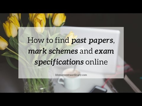 How To Find Past Papers