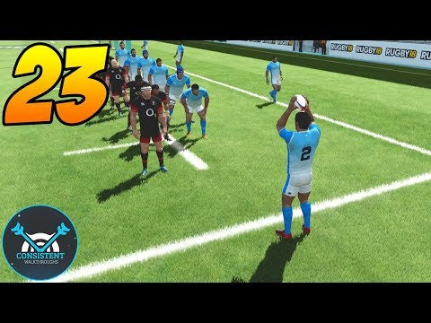 """THE NEW INTERNATIONAL LEAGUE! (Rugby 18 League Gameplay """"Argentina Vs England"""" Part 23   PS4 Pro)"""