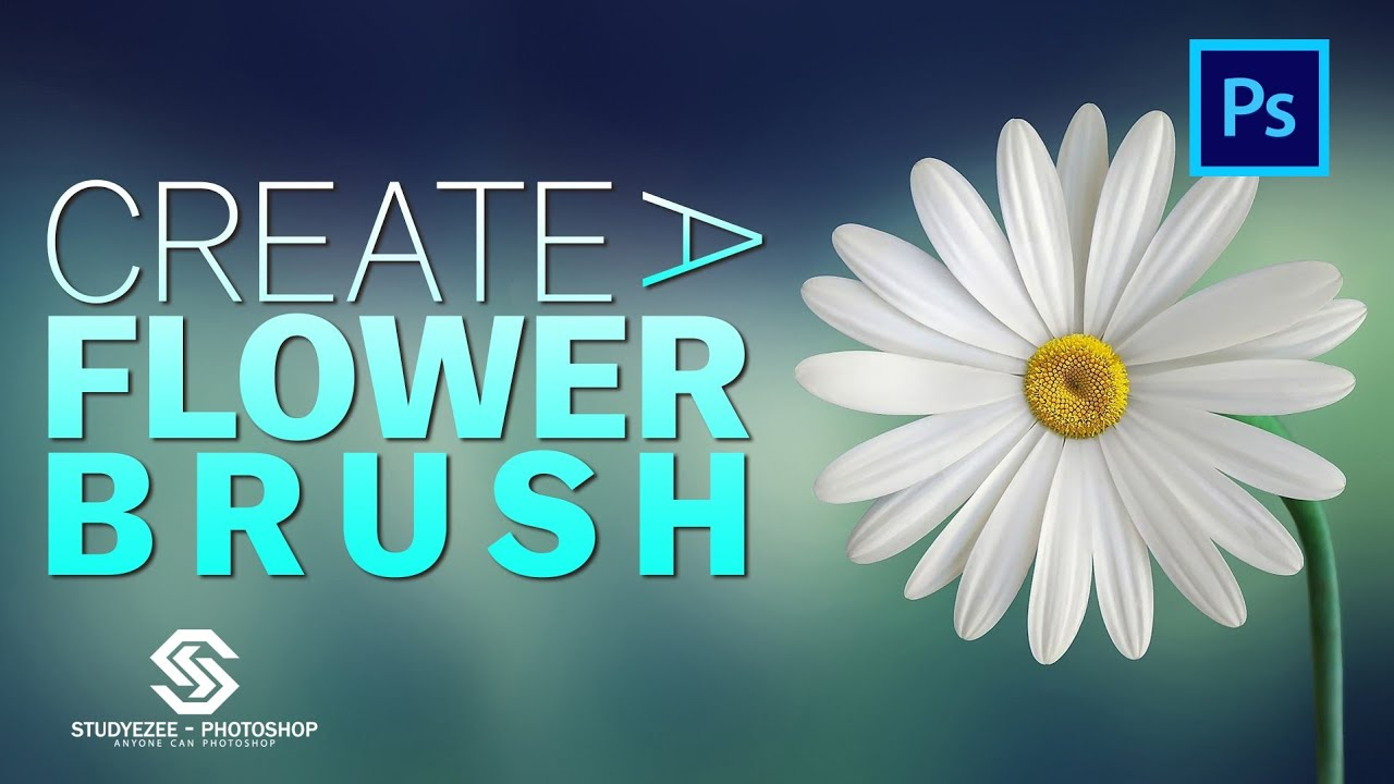 Create a Flower Brush | Custom Brush | Photoshop 2021 | Shorts