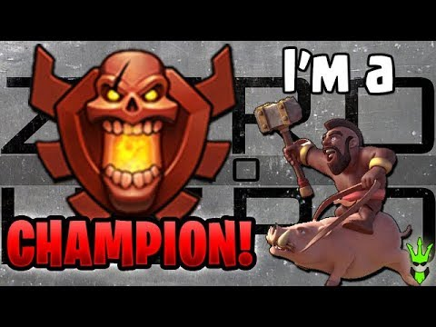 I'M A CHAMPION! - TH9 Zero to Hero: Legend Push! Episode 6 - Clash of Clans - Hog Homecoming Event
