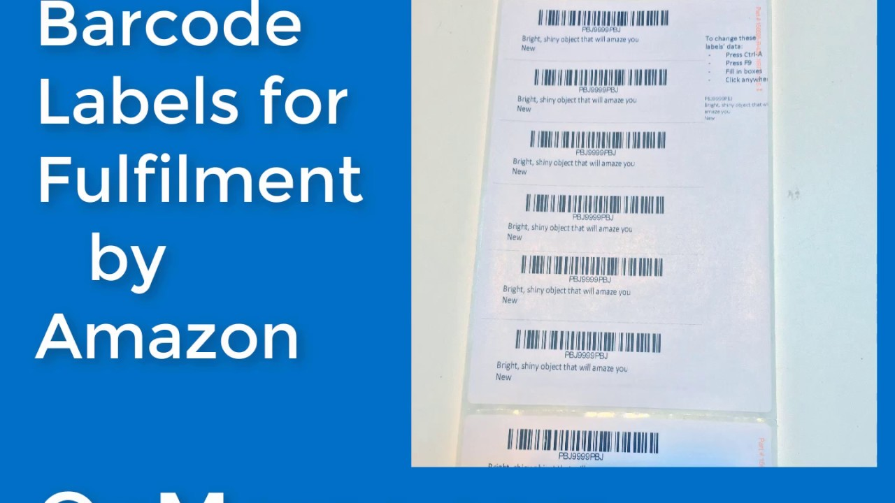 Fulfilment by Amazon FBA Barcode FNSKU Labels for Thermal Printers ...