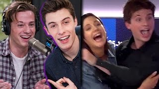 Charlie Puth Pranks Shawn Mendes + Makes Out With Radio Host (WATCH)