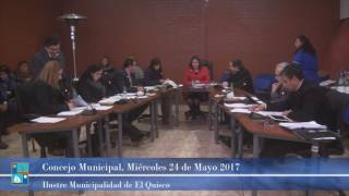 Concejo Municipal Miércoles 24 de mayo 2017