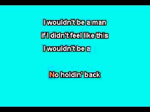 Josh Turner  I Wouldnt Be A Man Karaoke