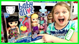 Toy Shopping At Walmart For Baby Alive Snackin Noodles Doll Fun And Crazy Kids