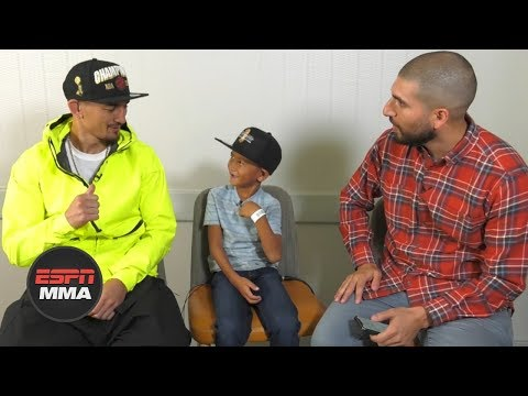 Max Holloway and his son 'Mini-Blessed' have fun sitdown, talk Frankie Edgar | UFC 240 | ESPN MMA