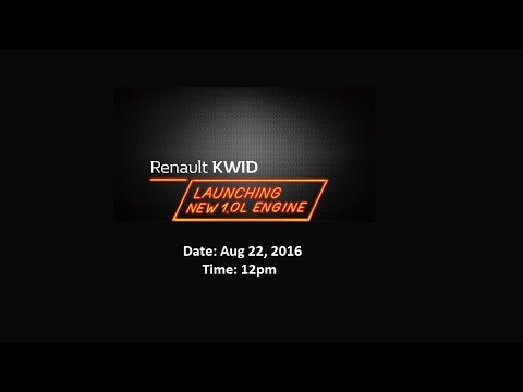 Renault KWID 1.0L Launch