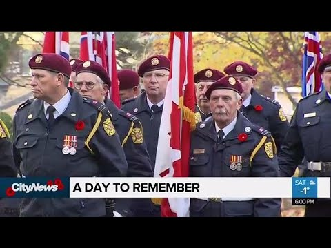 Remembrance Day Ceremonies Held In Toronto, Across Canada