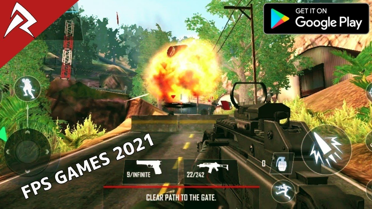 Top 6 FPS Online/Offline Games For Android 2021 #1