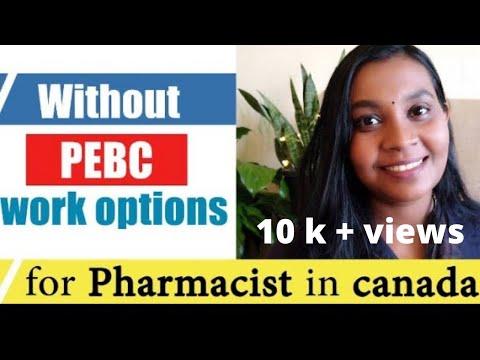 Jobs For Pharmacy Graduates In Canada That Doesn't Need Pharmacy Licence PEBC  | Sujisha Arun