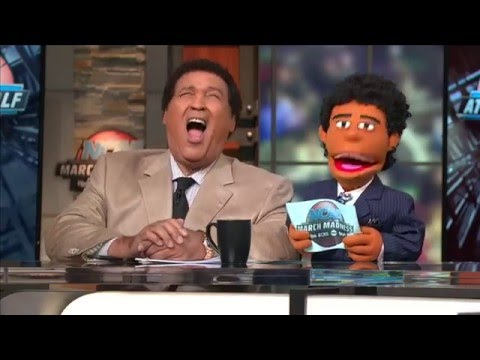 March Madness halftime on TV... with puppets