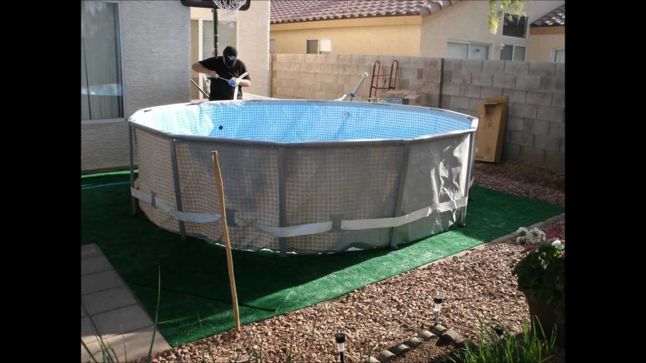 Above ground swimming pool setup time lapse youtube - Above ground swimming pools reviews ...