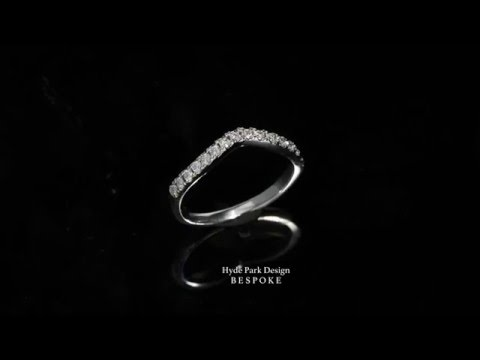 Shaped to Fit Bespoke Diamond Wedding Ring - Made in London