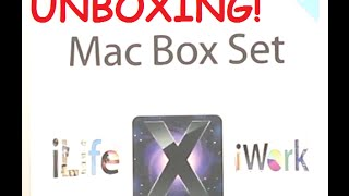 Unboxing Mac Box Set - iLife, iWork, and Mac OS X - Family pack