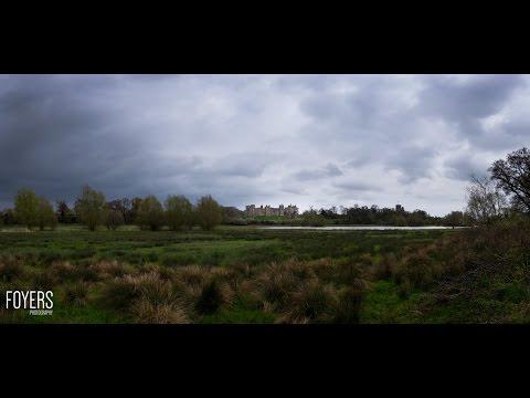 framlingham castle and mere using 18 photographs stitched together