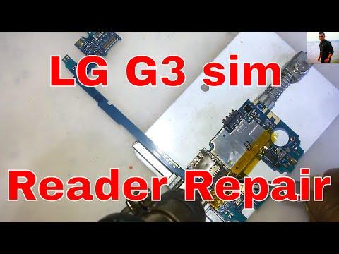 How to Replacement LG G3 (D855) Sim Card reader repair