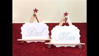 12 Days of Christmas -Day 5 -Table Name Card Holder