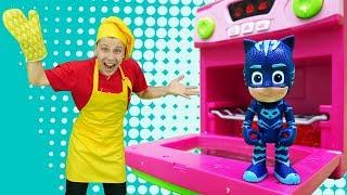 Видео для детей - Профессия Пекарь в Веселой школе с Игрушками thumbnail