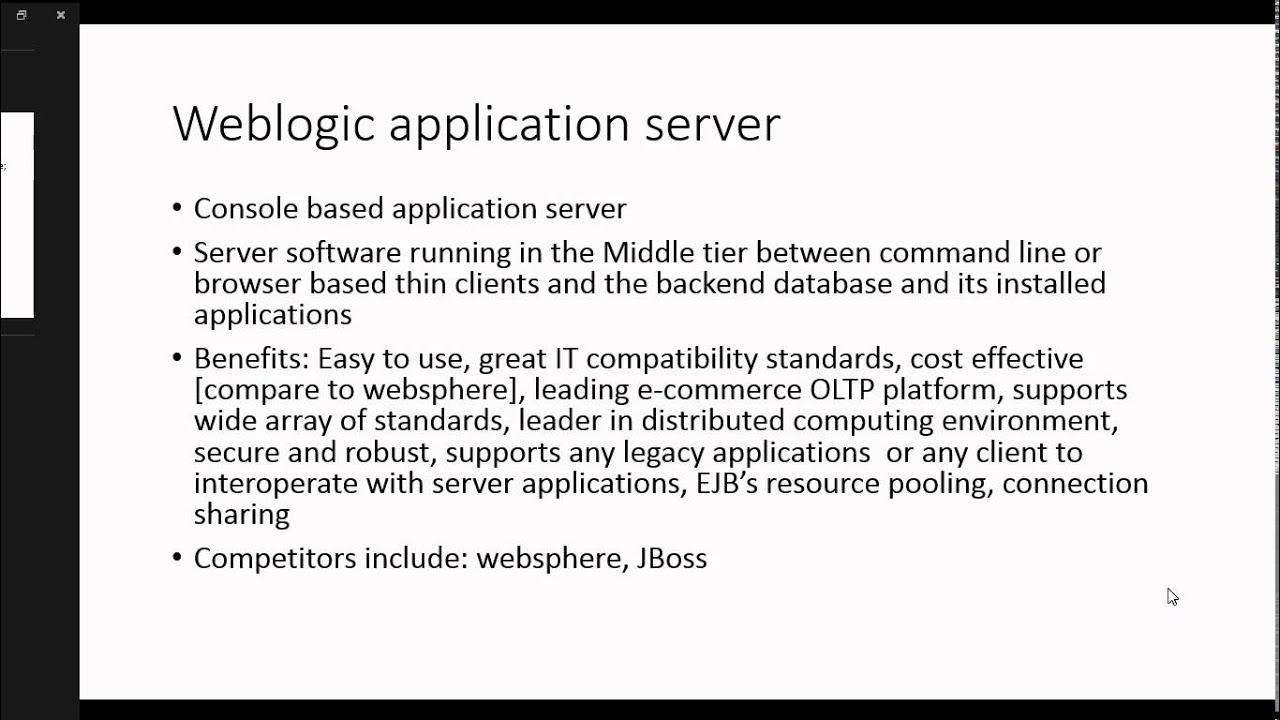 Oracle weblogic server fundamentals 1 introduction to weblogic oracle weblogic server fundamentals 1 introduction to weblogic server youtube baditri Images