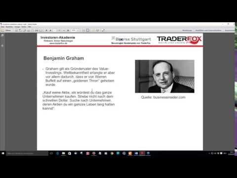 Investoren-Akademie (3/4): Benjamin Graham - der defensive Investor!