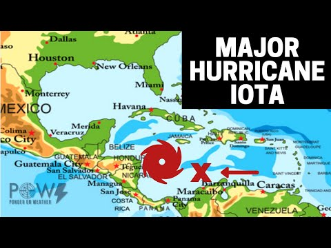 Major Hurricane Iota CAT 4 Landfall! Another Storm Brewing In The Caribbean - POW Weather Channel