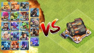 ALL TROOPS vs DOUBLE CANON - CLASH OF CLANS | ALL UNITS vs GEARED UP CANON !! | OMG ! WHO WINS?| COC